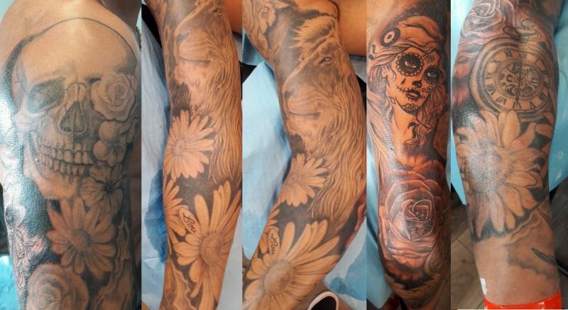 Tattoo bras homme - Tatouage rose bras homme ...